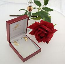 Ohr-Ringe ear rings clips Klips 750 Gold Brillanten diamonds 0,60 ct Karat TW IF