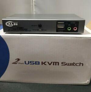 CKLau 2 Port 4k Displayport KVM Switch, DP KVM Switch CKlau-21DP