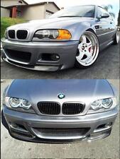 For BMW E46 M3 Bumper add CSL Style 2x2 Carbon Fiber Front Lip Spoiler