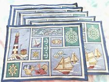 New listing 6 Beautiful Nautical Themed Placemats