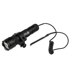 5000Lm XM-L T6 LED Tactical Flashlight Torch Lamp Mount Pressure Switch Hunting