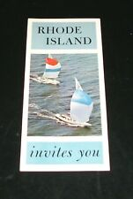 Vintage Rhode Island Travel Brochure Pictorial 60s 70s Excellent Original Estate