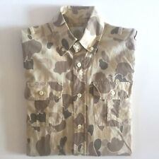 GANT MICHAEL BASTIAN TAN CAMO SLIM FIT COTTON MENS WORK SHIRT SZ.XS - BRAND NEW