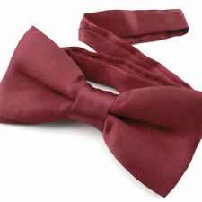 Noeud Papillon pour Enfant Réglable Satin Bordeaux - Children Bow Tie Burgundy
