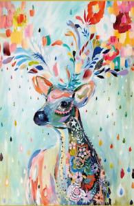 Watercolor Elk 1000PCS Wooden Puzzle Jigsaw Cartoon Scenery 75*50cm -T