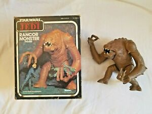 Vintage STAR WARS 1984 Kenner ROTJ RANCOR MONSTER FIGURE w/ Original Box