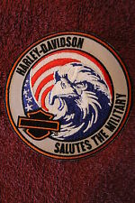 "HARLEY DAVIDSON ""SALUTE THE MILITARY"" EAGLE PATCH - HOG Soldier USA Flag 2013"