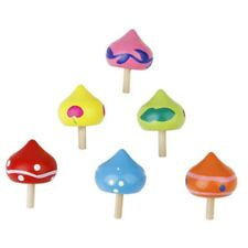 6pcs Toupie Peg-Top Sabot de Bois Colore en Forme de Coeur Jouet Educatif p H2C7