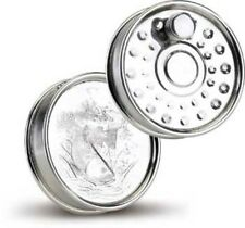 Fly Fishing Reel  Design Pewter Hip Flask Gift Idea