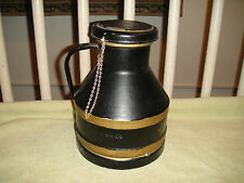 Vintage Buhl Ohio Metal Milk Container Jug-4 Quart Liquid-Painted-Superb