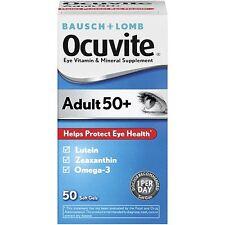 Ocuvite Yeux Vitamine & Complément Minéral Pour Adultes 50 & Plus Doux Gels 50