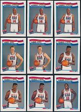 (43) 1991-92 Hoops USA Olympic Dream Team lot Barkley Ewing Stockton Pippen Bird