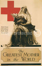 Greatest Mother World WWI US Red Cross Vintage Poster 18x24