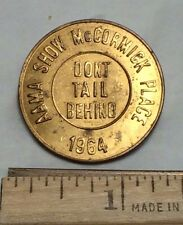 Vintage 1964 AAMA Show Don't Tail Behind PRICE BATTERY Corp Medal Token