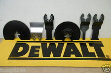 BRAND NEW 6PCE SET OF DEWALT OSCILLATING MULTI TOOL BLADES TAKEN FROM DCS355 KIT