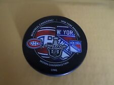 2014 Stanley Cup Playoffs Dueling Puck New York Rangers / Montreal Canadiens