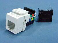 Leviton White Quickport 6-Wire Phone Jack RJ11 Telephone 6-Conductor 41106-RW6