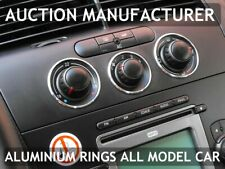 Seat Leon II 1P 2005-2012 Heater Surrounds A/C Control Rings Polished Alloy 3pcs