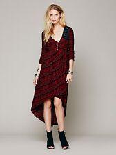 EUC Free People Red FP New Romantics Lelani Wrap Dress bohemian,  XS