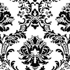 Black and White Victorian Damask Wallpaper BK32013 Double Roll FREE SHIPPING