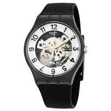 Swatch Originals Skeletor Black Silicone Men's Watch SUOB134