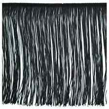"12"" Black Chainette Fabric Fringe Lampshade Lamp Costume Trim by the Yard"