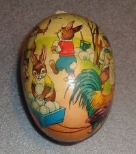 graphic old bunny Easter egg candy container