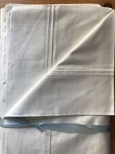 Vintage 1940s Doble Hojas par CC41 de algodón egipcio impresionante ropa de cama no utilizado