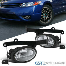 For 06-08 Honda Civic 2Dr Coupe Clear Fog Lights Driving Bumper Lamps+Switch