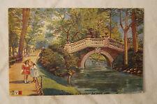 Paris - Parc Monceau - Le Petit Pond - France - Vintage - Postcard.