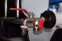 "IBC Adapter 1/2"" Auslaufhahn Regenwassertank Adapter-1000l Wassertank Anschluss"