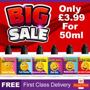 Smiley E Liquid 0mg Cheap Vape Juice Nicotine E-Cigs E-Liquid