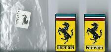 Ferrari Enamel Pin Badge x 2 Lapel Pin Official Merchandise Sealed In Bag