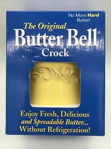 THE ORIGINAL BUTTER BELL CROCK by L.Tremain Easy To Use Yellow NEW In Box!!