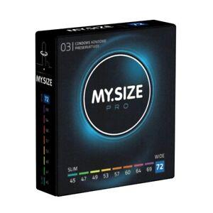 Frei Haus: My.Size PRO 72mm, 3 Kondome nach Maß, Maßkondome, Größe 72, XXXL