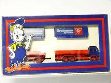 Herpa MB Mercedes Roadtrain Set Greimann Spedition Set 1:87/H0 Ovp