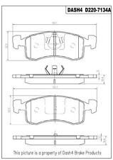 Napa TruStop D220 Semi-Metallic Brake Pads