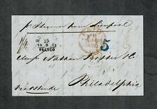 "Transatlantic Ship Cover Rotterdam To Philadelphia 1852 ""Atlantic"""