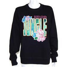 KENZO PARIS X DISNEY Jungle Book Rare NWOT Black Floral Sweatshirt size M /5387