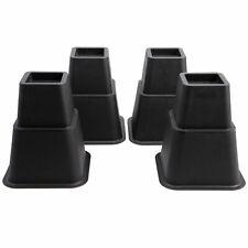 8x Sofa Furniture Raisers Heavy Duty Square Bed Leg Risers Table Chair 3+5 Inch