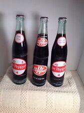 Dr Pepper 16 oz Soda Bottle Full 10 2 4 Lot Of 3 With Caps