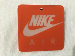 Nike Air Swoosh Orange Shoe Tag is Original and Authentic.  Vintage  90s