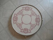 VINTAGE Rotating CAKE PLATE STAND Lazy Susan Turntable GERMANY Cream & Red