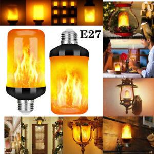 ✅2/4tlg LED Licht Fackel Feuer Lampe Flammen Effekt Glühbirne Flacker Birne E27✅