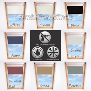ROLLER BLINDS BLACKOUT FOR ALL DAKSTRA ROOF WINDOWS EASY FIT CHILD SAFE