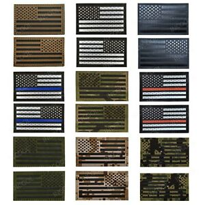 Infrared Reflective American Flag Patches
