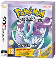 3DS POKEMON CRYSTAL PACKAGED DOWNLOAD CODE NINTENDO 3DS
