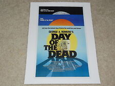 "Day of the Dead 1985 Mini-Poster, Romero, USA Print, 8"" by 11"" Ready to Frame!"