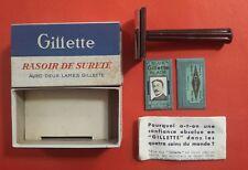 Ancien rasoir mécanique GILLETTE de sureté avec 2 lames