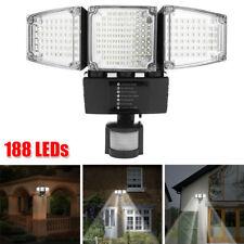 188 LED Solar Panel Outdoor Garden Motion Sensor Security Flood Light Spot Lamp